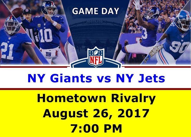 NY Giants vs NY Jets at MetLife Stadium (Aug 26) - 2 Tix Package Lower 100 Level #NewYorkGiants #Giants #NFL $tickets #Stubhub #eBay #TicketMaster #NFLTicketExchange #football #sports