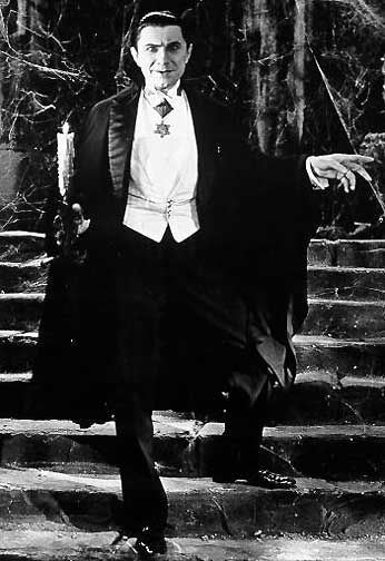 bela lugosi Dracula-I was so scared of him.  In a child's mind, I knew he was hiding in my room at night.
