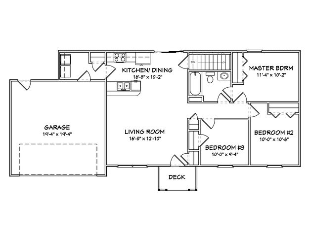 House Plan 849 00010 Country Plan 1 030 Square Feet 3 Bedrooms 1 Bathroom Home Design Floor Plans Bedroom House Plans 3 Bedroom Floor Plan