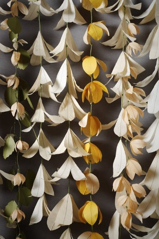 Forever Flower Ceremony Backdrop #flowers #decorations #paper