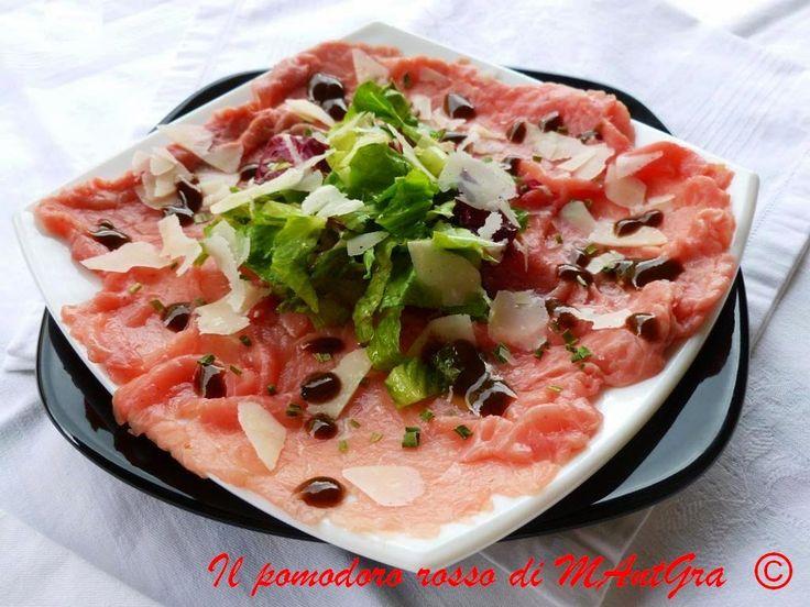 Carpaccio di manzo al Grana Padano. #ricetta di @ilpomodororosso