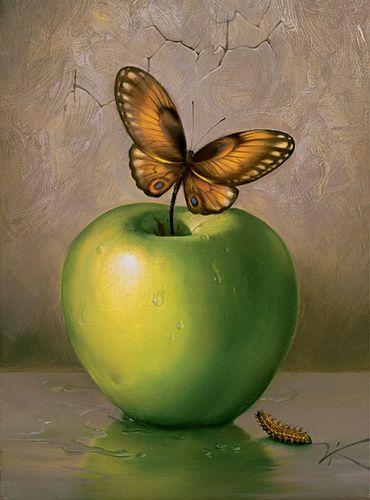 Green Apple by Vladimir Kush