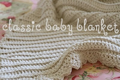 So simple yet so pretty. Classic Baby Blanket: Crochet Blankets, Babies, Baby Blankets Patterns, Classic Baby, Baby Blankets Crochet, Blanket Patterns, Crochet Baby Blankets, Free Patterns, Crochet Patterns