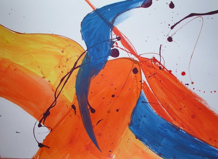 Vogue Smiles Melbourne - Dr Zenaidy Castro's Abstract art painting