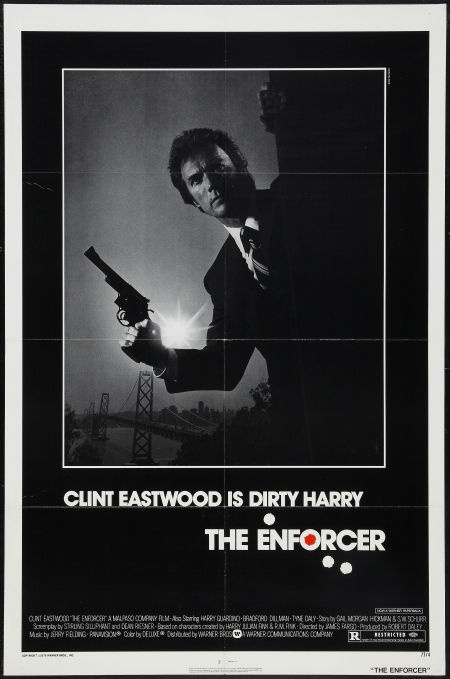 The Enforcer 1 sheet movie poster. Clint Eastwood as Dirty Harry
