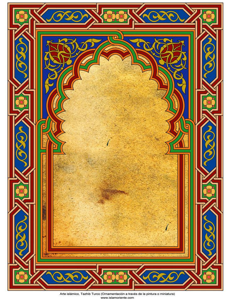Arte islámico – Tazhib Turco (Ornamentación a través de la pintura o miniatura) -Cuadro - 96 | Galería de Arte Islámico y Fotografía