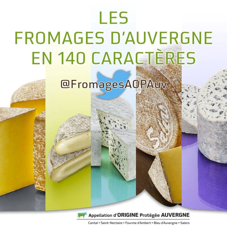 Suivez les Fromages AOP d'Auvergne sur Twitter ! #Fromage #Cheese  http://www.twitter.com/FromagesAOPAuv