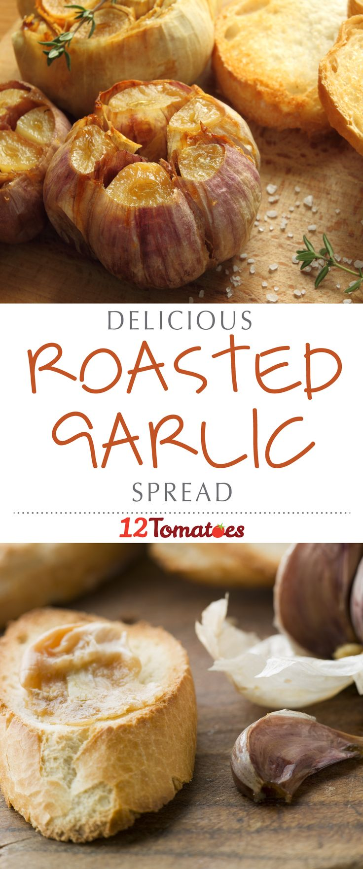 When you think of garlic, you probably think of it as a great way to add flavor or seasoning to a meal; but did you know that by using this special roasting technique, you can transform your garlic into a creamy, spreadable topping? It's great on french bread and pasta, but there are so many ways you can enjoy this savory spread!