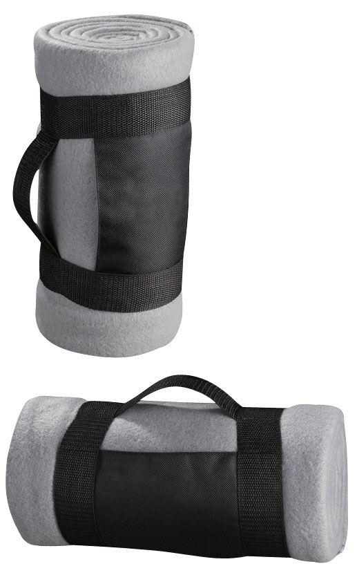 Manta de polar con bolso de tela con espacio para logo