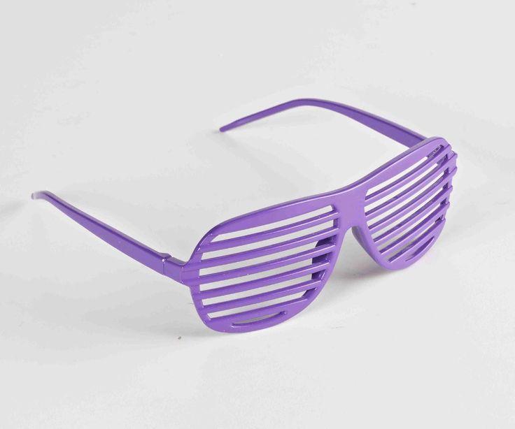 You'll look phat wearing the Neon Purple Rapper Costume Slat Glasses.