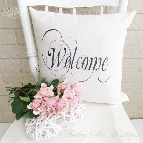 Shabby Art Boutique - welcome cushion 1 & 123 best DECOR Pillows images on Pinterest | Decor pillows ... pillowsntoast.com
