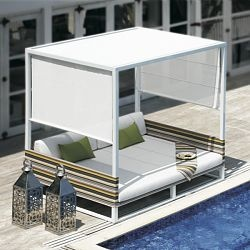 stripe collection outdoor daybed