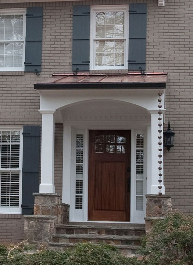 EXOVATIONS | Front Porch Photos Portico Pictures Front Entry Covered Porch Before and After & 8 best Front Door/Portico images on Pinterest | Homes Front ...