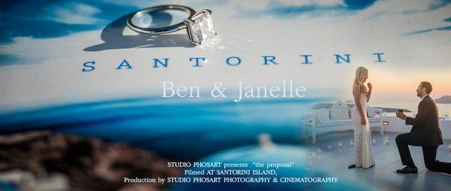 Amazing Wedding Proposal in Santorini Greece | Janelle & Ben | by Phosart
