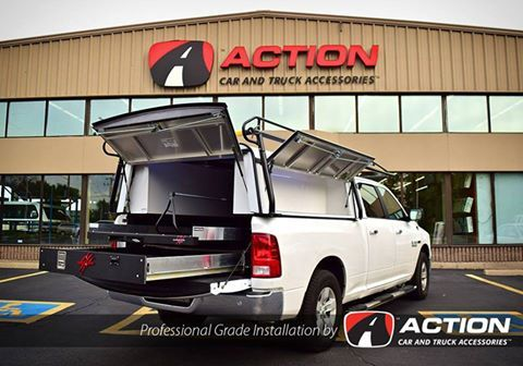 Check out this build by our store in Hamilton, ON! - Cargo Ease locker and slide with a custom wire fence roller. - Custom rope lighting in the side tool boxes - Roof Rack by Cargomaster - DCU cap by A.R.E. Truck Caps and Tonneau Covers #ProfessionalGradeInstallation