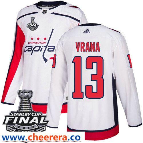 promo code 2a9b5 bf911 Washington Capitals #13 Jakub Vrana White Stitched Adidas ...