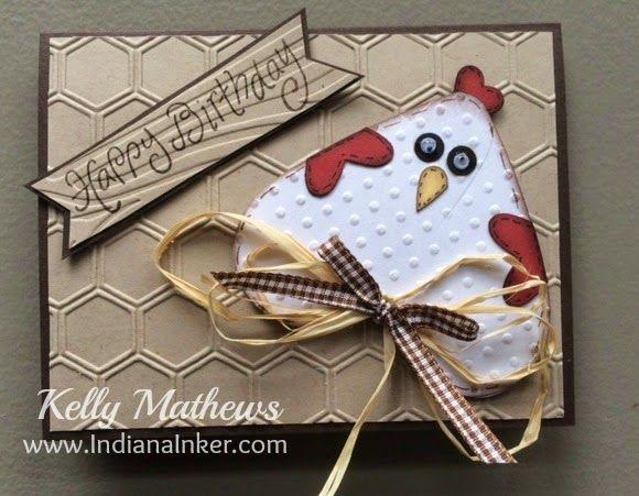 Indiana Inker: Chicken Birthday Card