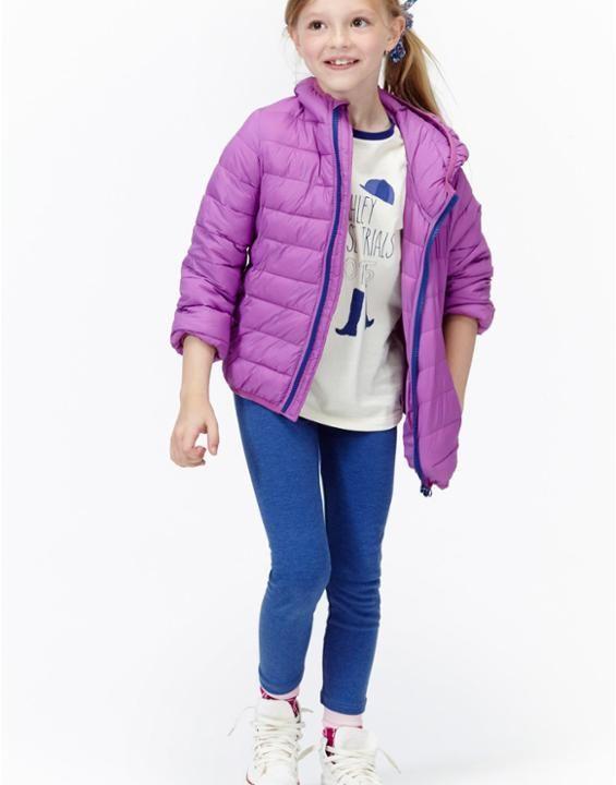 JNR KINNAIRD Girls Padded Pack Away Purple Jacket