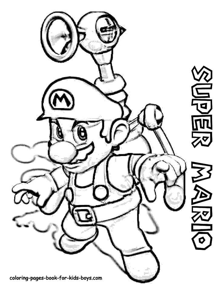 26 best mario bross images on Pinterest Coloring books, Coloring - new mario sunshine coloring pages
