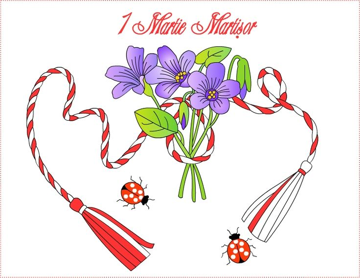 Nicole's Free Coloring Pages: 1 Martie Martisor * Coloring Greeting Cards