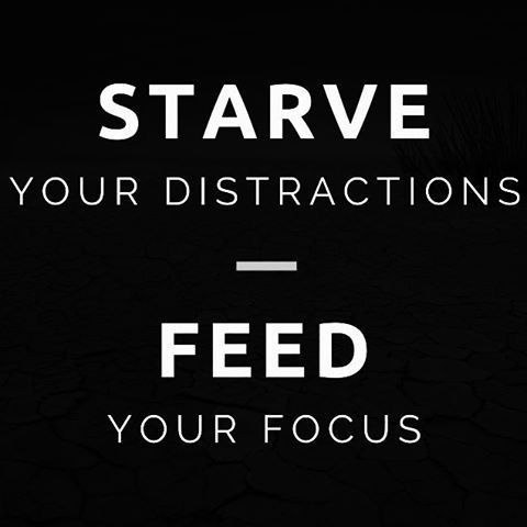 Starve your distractions. Feed your focus.