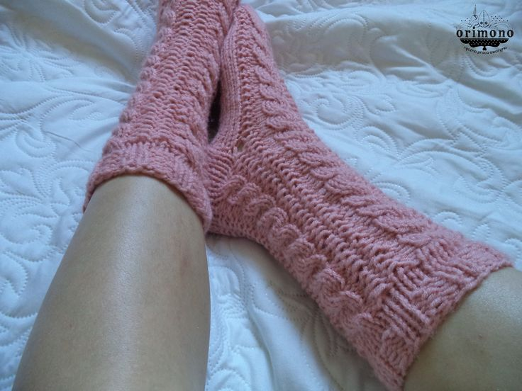 Hand knitted, cable socks by ORIMONO http://orimono.ga