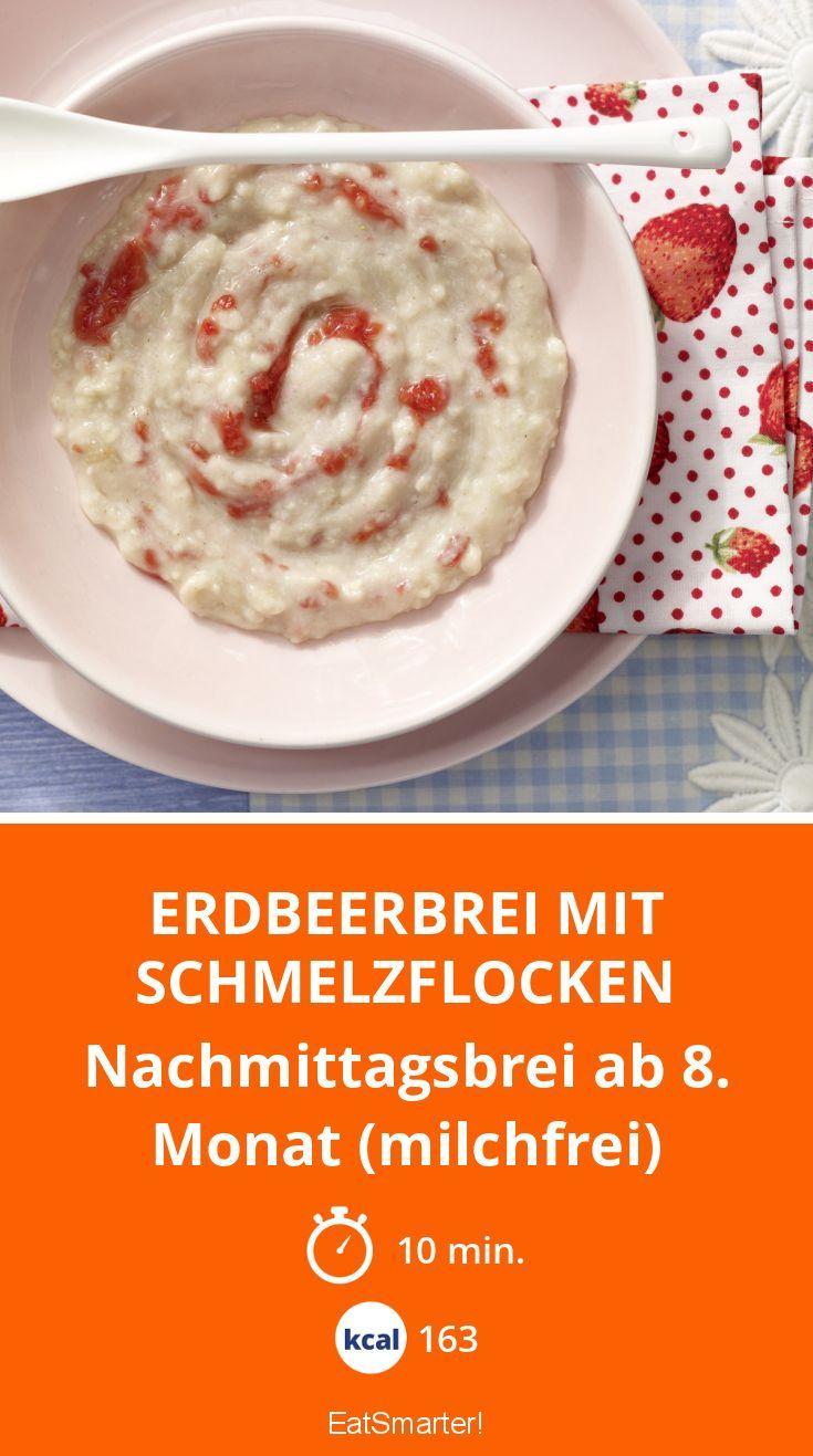 Erdbeerbrei mit Schmelzflocken - Nachmittagsbrei ab 8. Monat (milchfrei) - smarter - Kalorien: 163 Kcal - Zeit: 10 Min. | eatsmarter.de