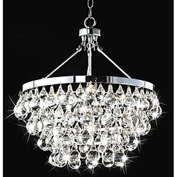 overstock's 5-light crystal chandelier, 250.00 | compare to shades of light deco lamp @ 1,049