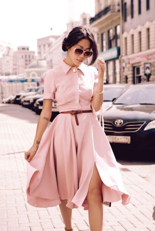 軽やかなふんわり感がキュートなシャツワンピースの着まわし術♡コーデのスタイル・ファッションの参考に♡