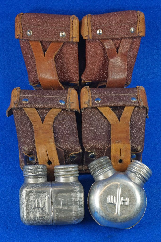 2 1960's Russian Soviet Army Mosin Nagant Rifle Ammo Pouches & 2 Oil Cans To see the Price and Detailed Description you can find this item in our Category Vintage Industrial & Steampunk on eBay: http://stores.ebay.com/tincanalley1/Vintage-Industrial-Steampunk-/_i.html?_fsub=19516075018  RD15499