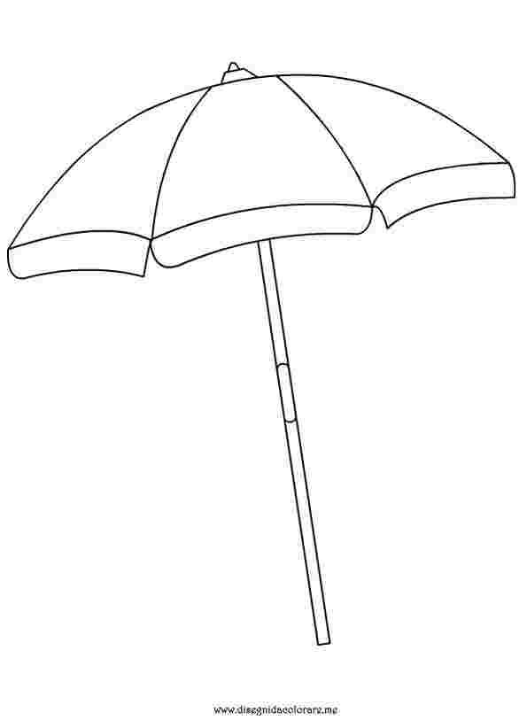 Preschool Beach Umbrella Coloring Pages Umbrella Coloring Page Beach Umbrella Beach Coloring Pages