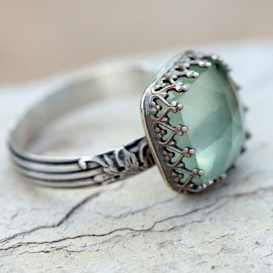 {true summer} Prehnite Cocktail Ring