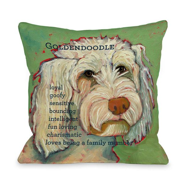 Goldendoodle Pillow Green For The Home Pinterest Pillows