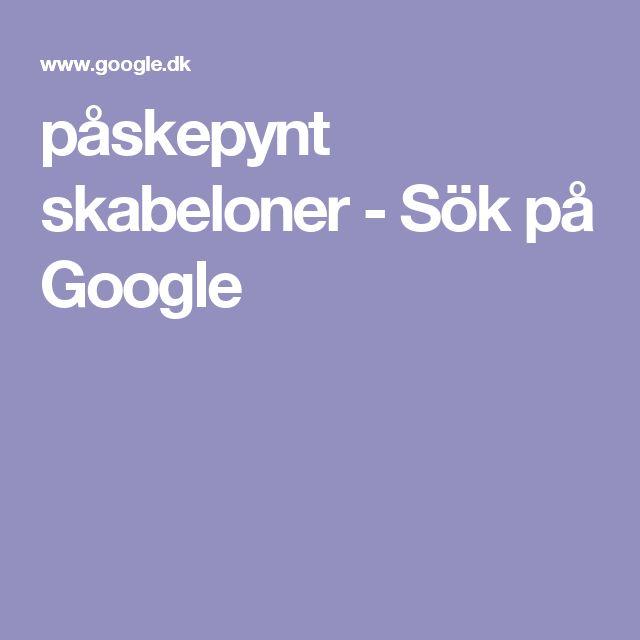 påskepynt skabeloner - Sök på Google
