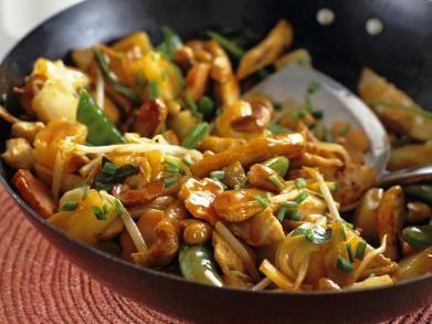 Lekker wokgerecht; Kip met zoetzure saus; Getest en goedgekeurd..