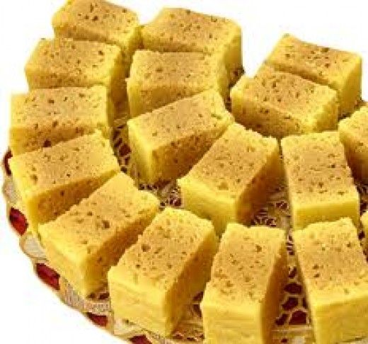 Mysore pak is a famous sweet recipe in Southern part of India. This is made of Gram flour and clarified butter (Ghee) . Some people prefer to make this sweet hard and crispy while some prepare it soft