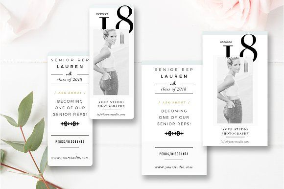 Senior Rep Card Templates @creativework247