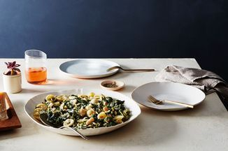Pasta with Broccoli Rabe and White Bean-Anchovy Sauce - For brightness and spice, there's lemon juice and red pepper flakes.  http://food52.com/recipes/39420-pasta-with-broccoli-rabe-and-white-bean-anchovy-sauce