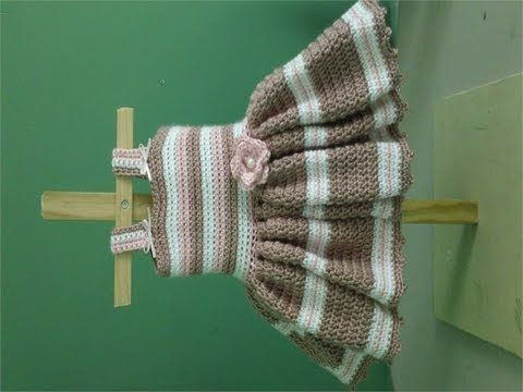 How to Crochet Easy Baby Dress - for newborn photos by Anna Phelps www.annascrochet.blogspot.com