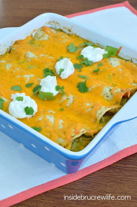Lighter Chicken Enchiladas - chicken and veggies wrapped in tortillas ...