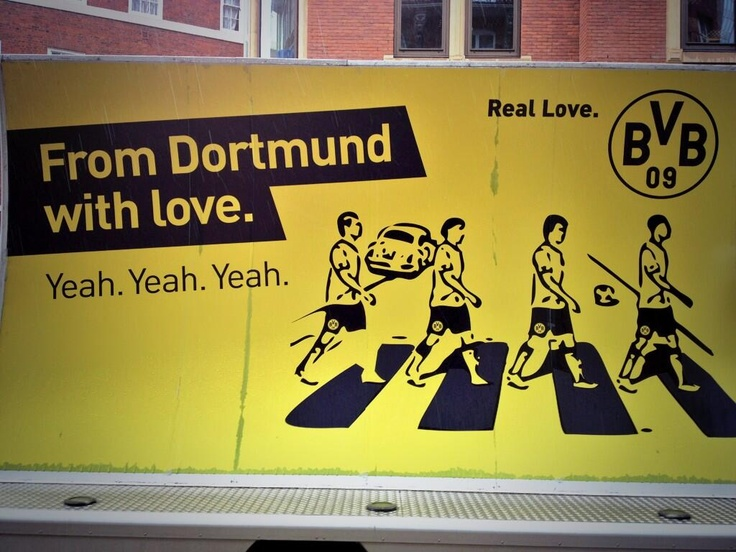 Borussia Dortmund (BVB) on Abbey Road (Twitter)