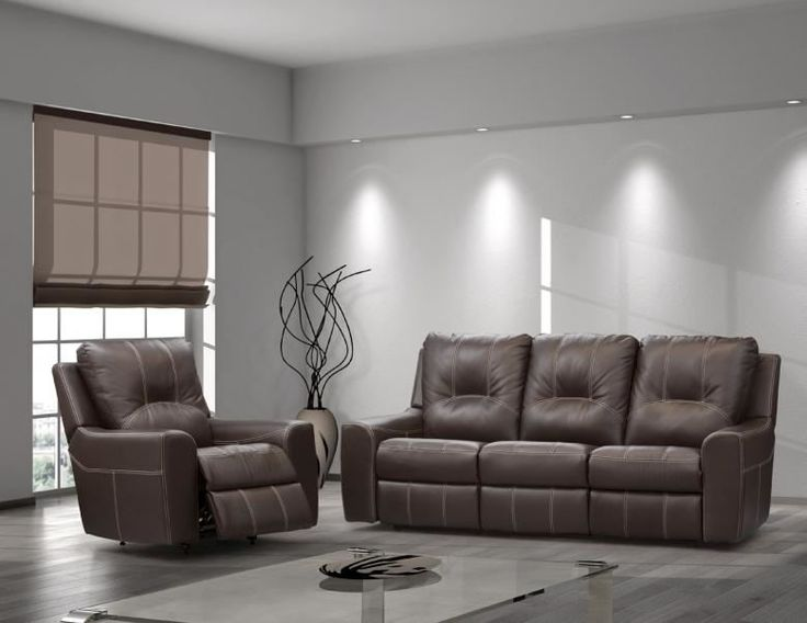 Paige leather reclining sofa set leather furniture expo for Sofa lit cuir