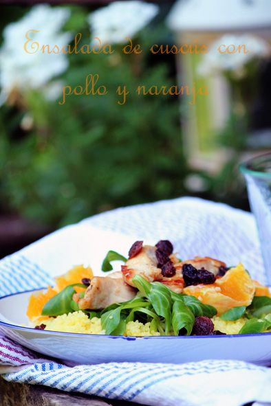 la cocina de ompa-lompa: Ensalada de cuscús , pollo y naranja