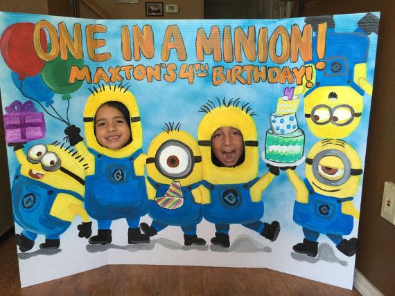 Minions Party-Minions Birthday- Despicable Me Party- Minions Decoration- Minion Photo Prop- Girl Minions- Minion Photo Stand In- Pink Minion