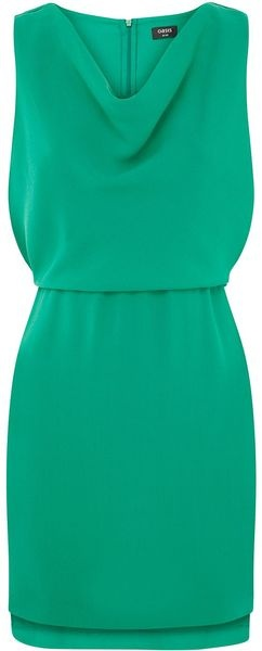Oasis Rubie Dress in Green   Lyst Gorgeous emerald colored dress - can dress  for work or play! Contrast with ruby bracelet for some added POP of color.