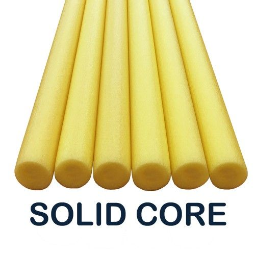 Oodles Solid Core Deluxe Foam Pool Swim Noodles Five Foot Length- 6 PACK Yellow | Jet.com