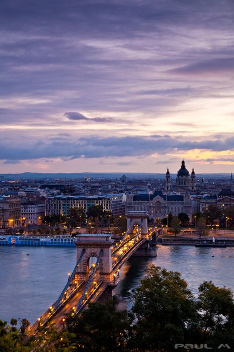 Budapest, (My grandpa left Budapest in WWII.  I've always wanted to go see his 'home town.')