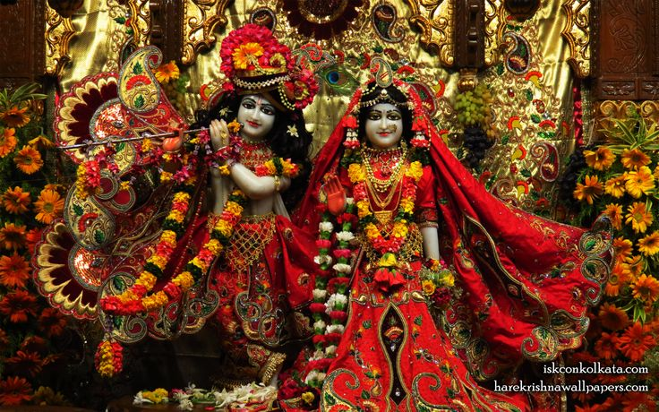 To view Radha Govinda  Wallpaper of ISKCON Calcutta in difference sizes visit - http://harekrishnawallpapers.com/sri-sri-radha-govinda-iskcon-calcutta-wallpaper-003/