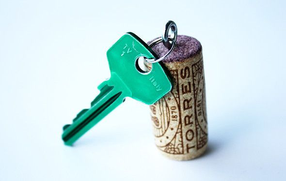 crazy camping tricks that will make your life easier – attach your keys to a cork – practically essential if you're boating