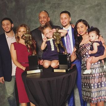 "The Curry Family, better known as the ""First Family of the NBA"" is currently the most popular..."